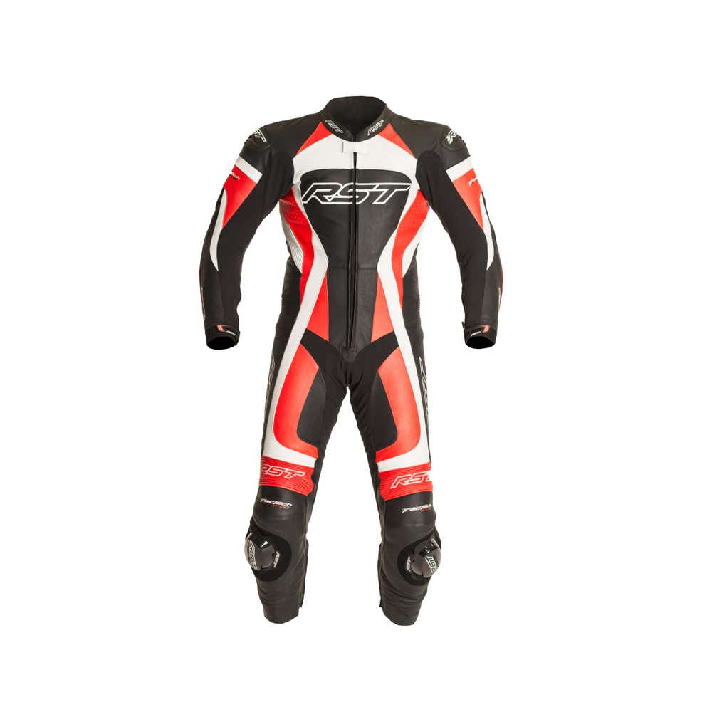 RST TracTech Evo One Piece Leather Suit - Fluoro Red