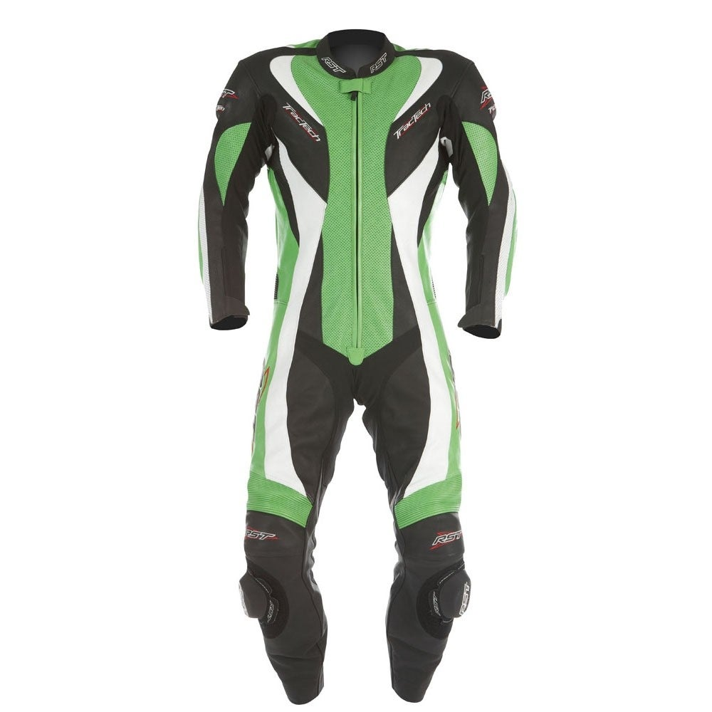 RST Tractech Evo One Piece Leather Suit - Green