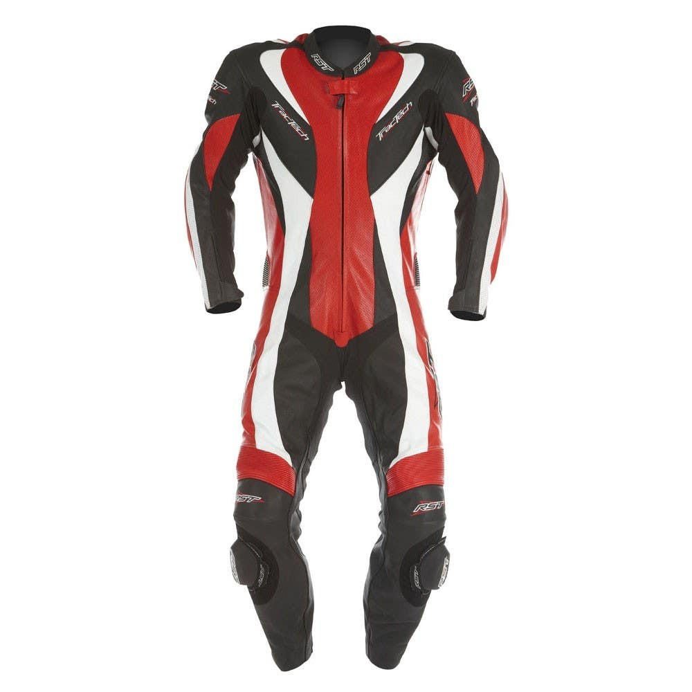 RST Tractech Evo One Piece Leather Suit - Red