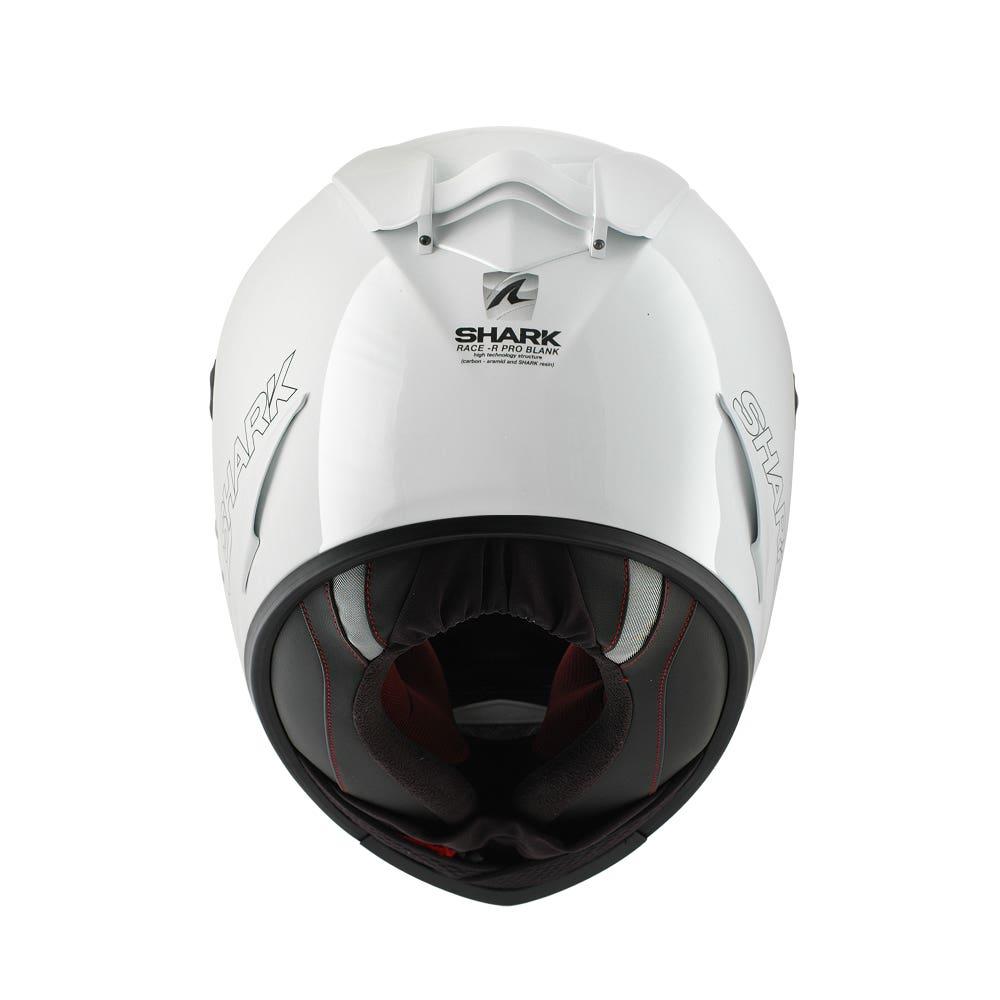 Shark Race-R Pro Blank Helmet - White Azur