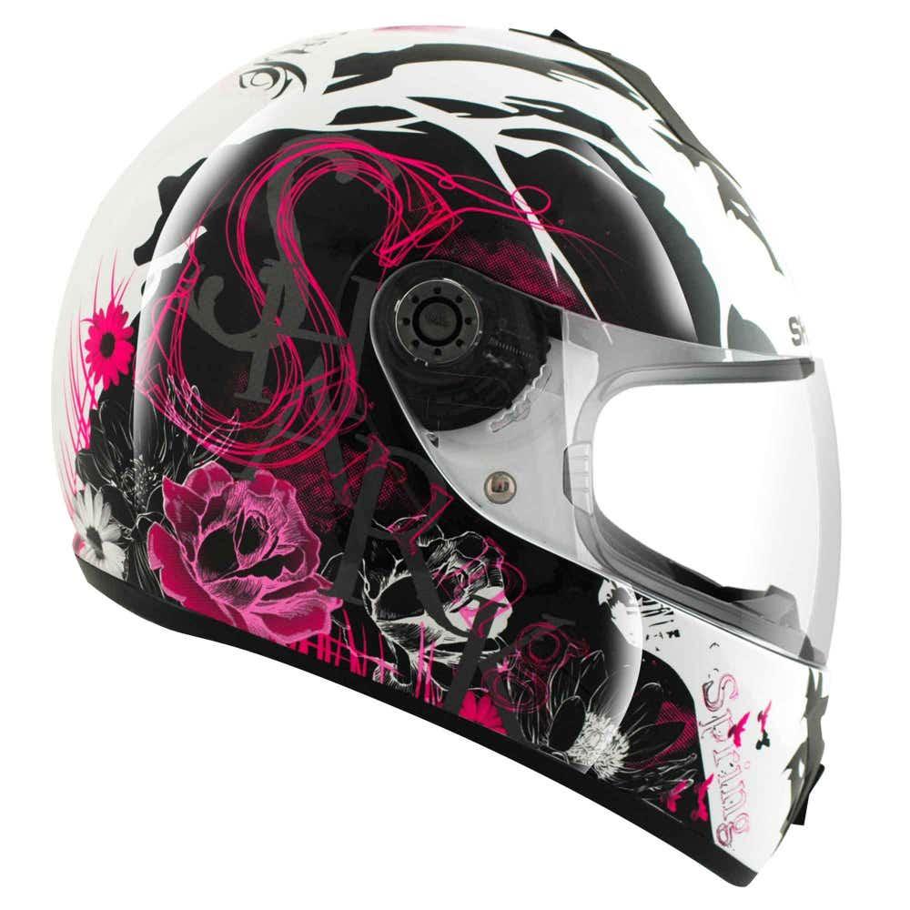 Shark S600 Season Helmet - White / Black / Violet