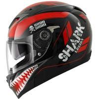 Shark S700-S Legion Helmet - Black / Red / White