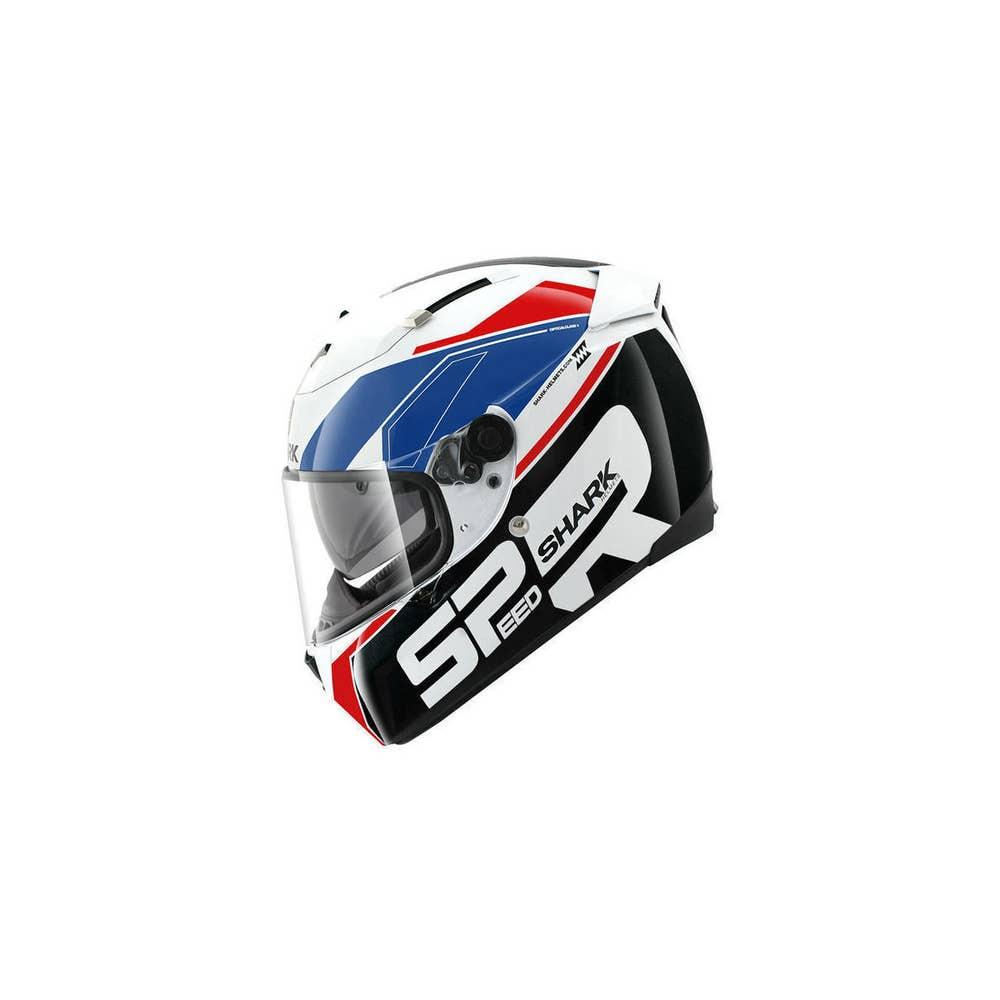 Shark Speed R Sauer Helmet - White / Blue / Red