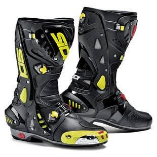 Sidi Vortice Boots - Black / Fluoro Yellow