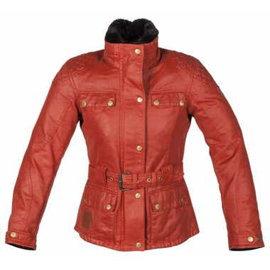 Spada Ladies' Hartbury Wax Cotton Jacket - Rouge