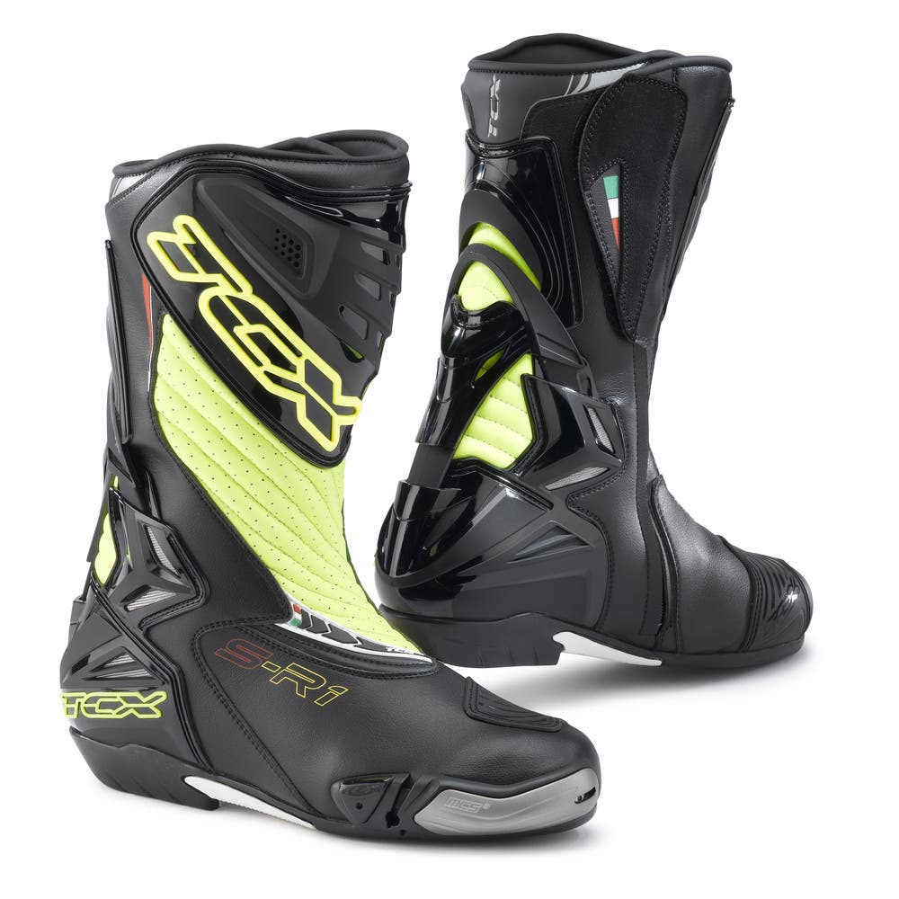 TCX S-R1 Boots - Black / Yellow