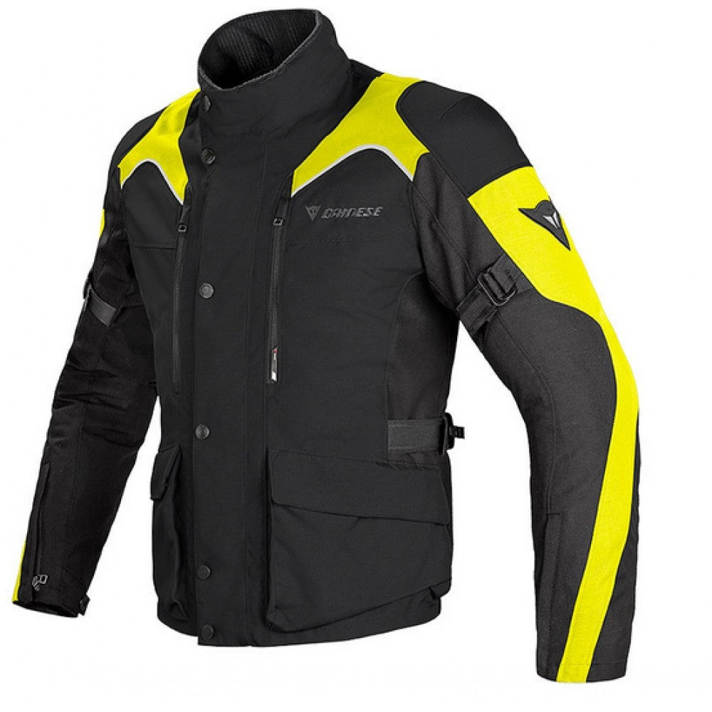 Dainese Tempest D-Dry Waterproof Jacket - Black Yellow - Front