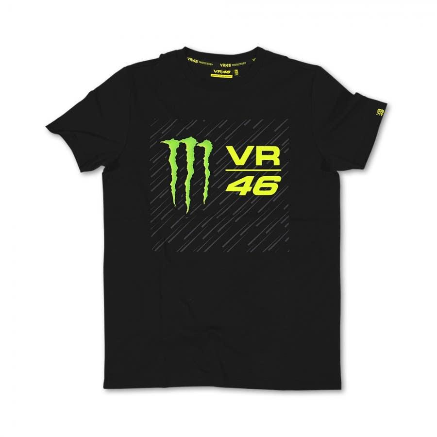 VR46 Monster Logo T-Shirt - Black
