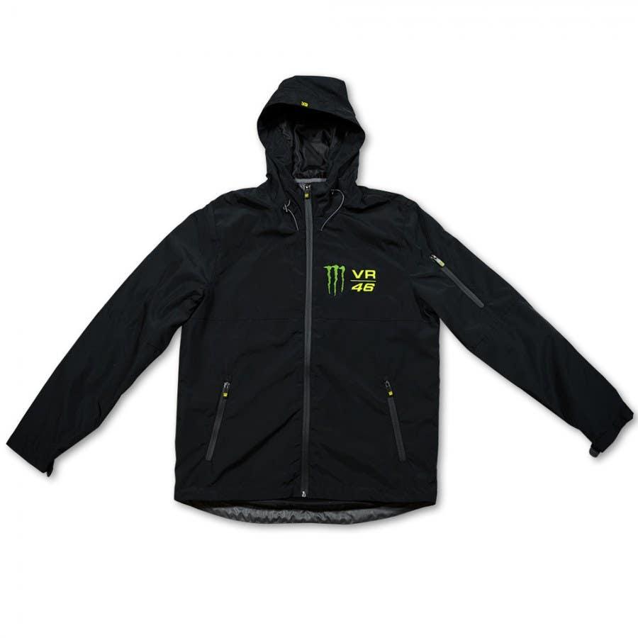 VR46 Monster Logo Windbreaker Jacket - Black