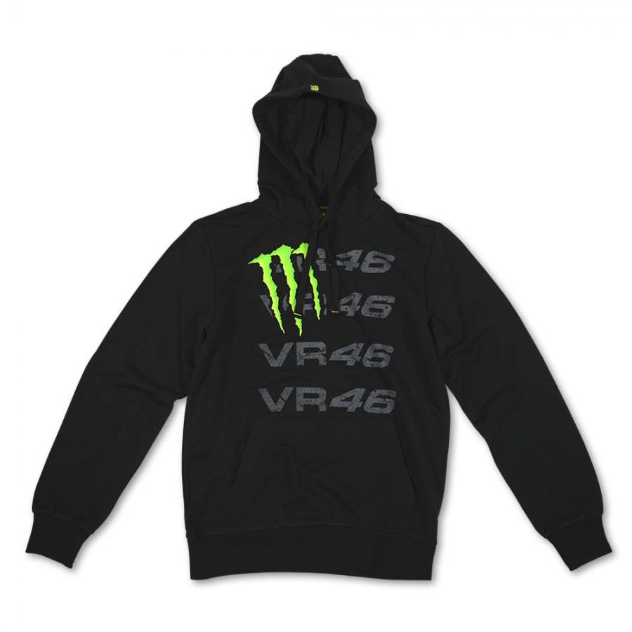 VR46 Monster Quad Hoodie - Black