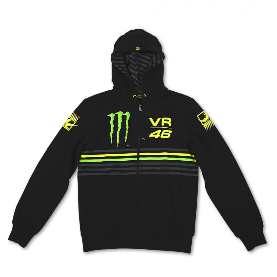 VR46 Monster Stripes Hoodie - Black