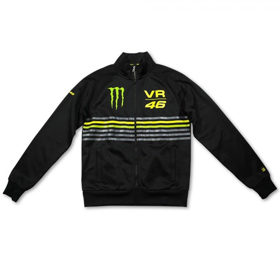 VR46 Monster Stripes Jacket - Black