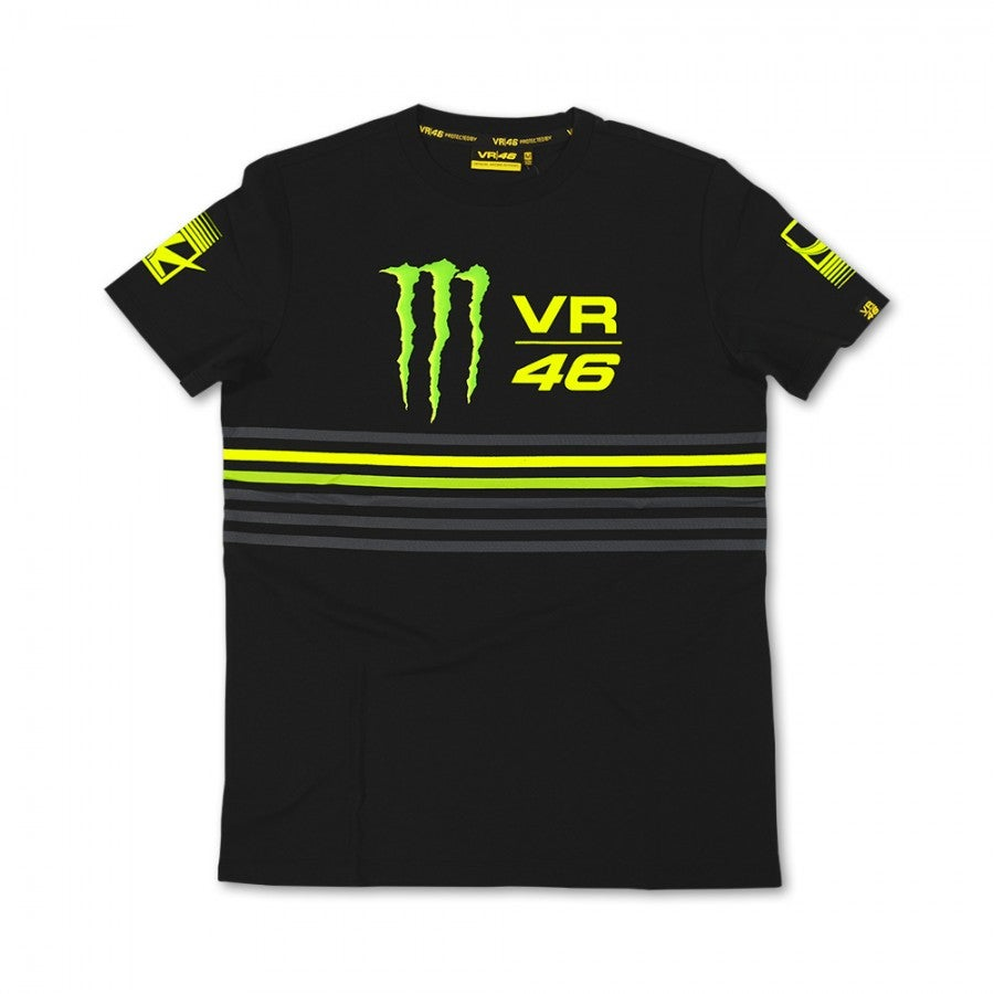 VR46 Monster Stripes T-Shirt - Black