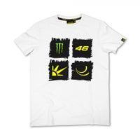 VR46 Monster Sun & Moon T-Shirt - White