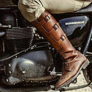 Motorcycle Boots Motorbike Gear Bike Stop